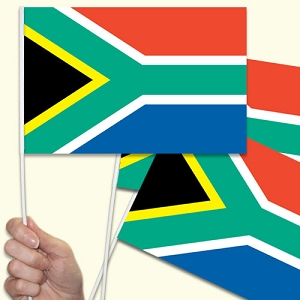 South Africa Handwaving Flags - 10 Pack