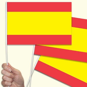 Spain / Spanish Handwaving Flags - 10 Pack
