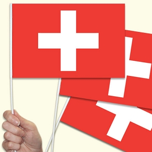 Switzerland / Swiss Handwaving Flags - 10 Pack
