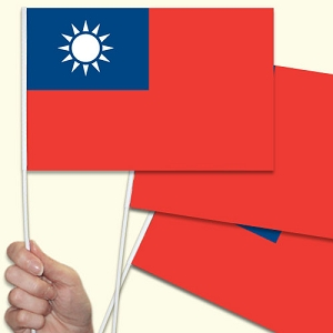 Taiwan Handwaving Flags - 10 Pack