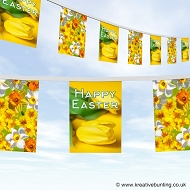 Easter bunting - flower design 2