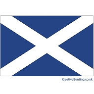 Scotland Flag - Scottish Saltire Flag - 5ft x3ft.