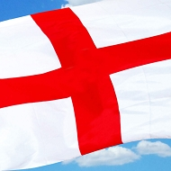 St. George Cross Flag - England Flag - 5ft x3ft.