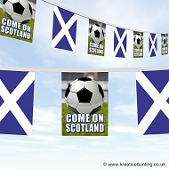 Come On Scotland Football Bunting