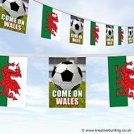 Come On Wales Football Bunting