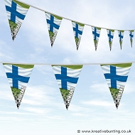 Finland Football Bunting - Wavy Flag Design