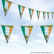 Ireland Football Bunting - Wavy Flag Design