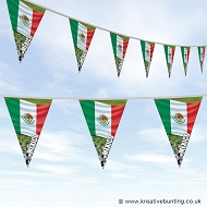 Mexico Football Bunting - Wavy Flag Design