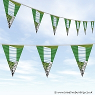 Nigeria Football Bunting - Wavy Flag Design