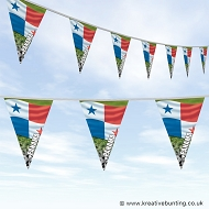 Panama Football Bunting - Wavy Flag Design