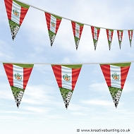 Peru Football Bunting - Wavy Flag Design