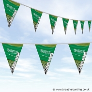 Saudi Arabia Football Bunting - Wavy Flag Design