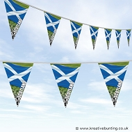 Scotland Football Bunting - Wavy Flag Design