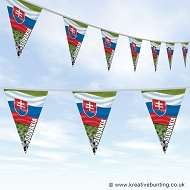Slovakia Football Bunting - Wavy Flag Design