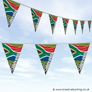 South Africa Football Bunting - Wavy Flag Design