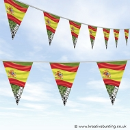 Spain Football Bunting - Wavy Flag Design