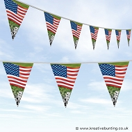 USA Football Bunting - Wavy Flag Design