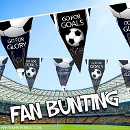 Black and White Football team Bunting