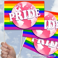 Pride World Design 10 - Handwaving Flags - 15 Pack