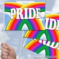 Pride Twin Rainbows Design 13 - Handwaving Flags - 15 Pack