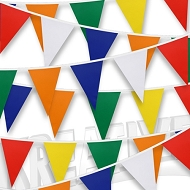 Multicoloured PVC Bunting - Choose your colours