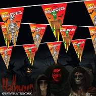 Halloween bunting Freaky Frankenstein and Mad Monster