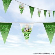 Camping Caravan Bunting - Choose your age - Birthday Celebration