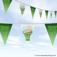 Camping RV Motorhome Bunting - Choose your age - Birthday Celebration