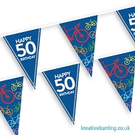 Cyclist Bunting - Choose your age - Birthday Celebration