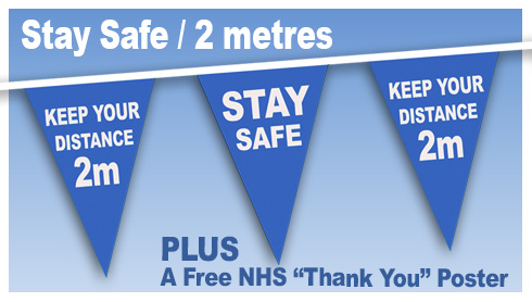 Stay Safe 2 Metres distance