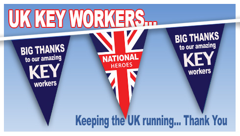 Key worker bunting - Big Thanks