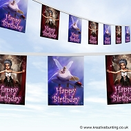 Fairies Birthday Party Bunting
