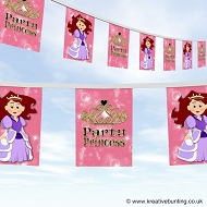 Party Princess Birthday Bunting
