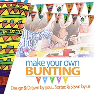 Make/draw your own Bunting Kits - Indoor Use Only