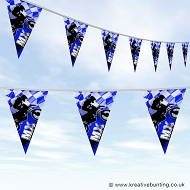 Dirtbike Off Road Motorcycle Bunting - MX Bold Blue