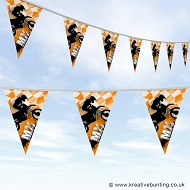 Dirtbike Off Road Motorcycle Bunting - MX Bold Orange