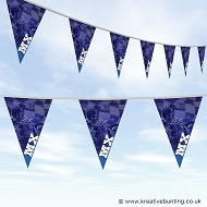 Dirtbike Off Road Motorcycle Bunting - MX Blue