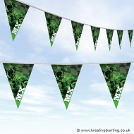 Dirtbike Off Road Motorcycle Bunting - MX Green