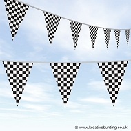 Chequered Flag Bunting - Standard Design