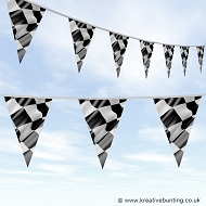 Chequered Flag Bunting - Wavy Design