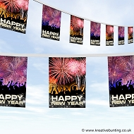Happy New Year Bunting Design 1