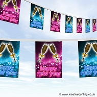Happy New Year Bunting Design 3