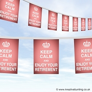 Keep calm and enjoy your retirement bunting