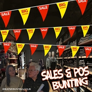 Sale/Big Savings Bunting RED / YELLOW