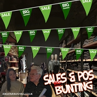 Sale/Big Savings Bunting GREEN