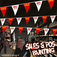 Sale/Big Savings Bunting RED / WHITE / YELLOW