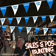 Sale/NOW ON Bunting BLUE