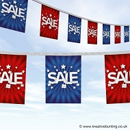 Blue & Red Sale Bunting