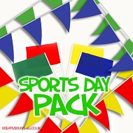 Sports Day/Event Pack - Yellow, Red, Blue, Green