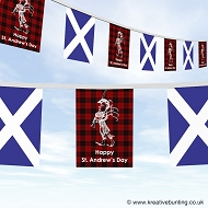 St. Andrew's Day bunting - Scotland Piper design